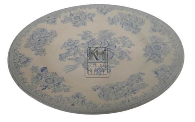 Blue patterned china plate