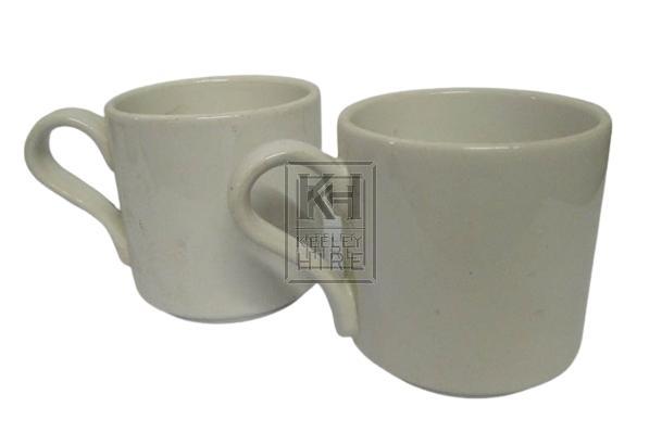 Plain china mugs