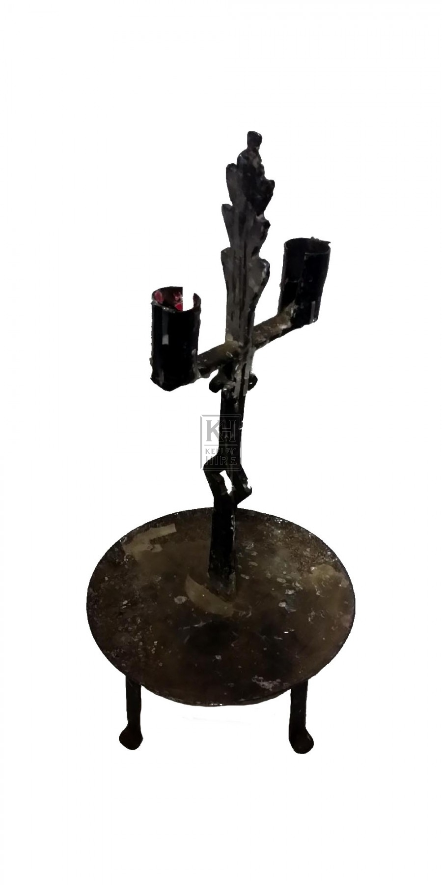 Dual Iron Candle Holder