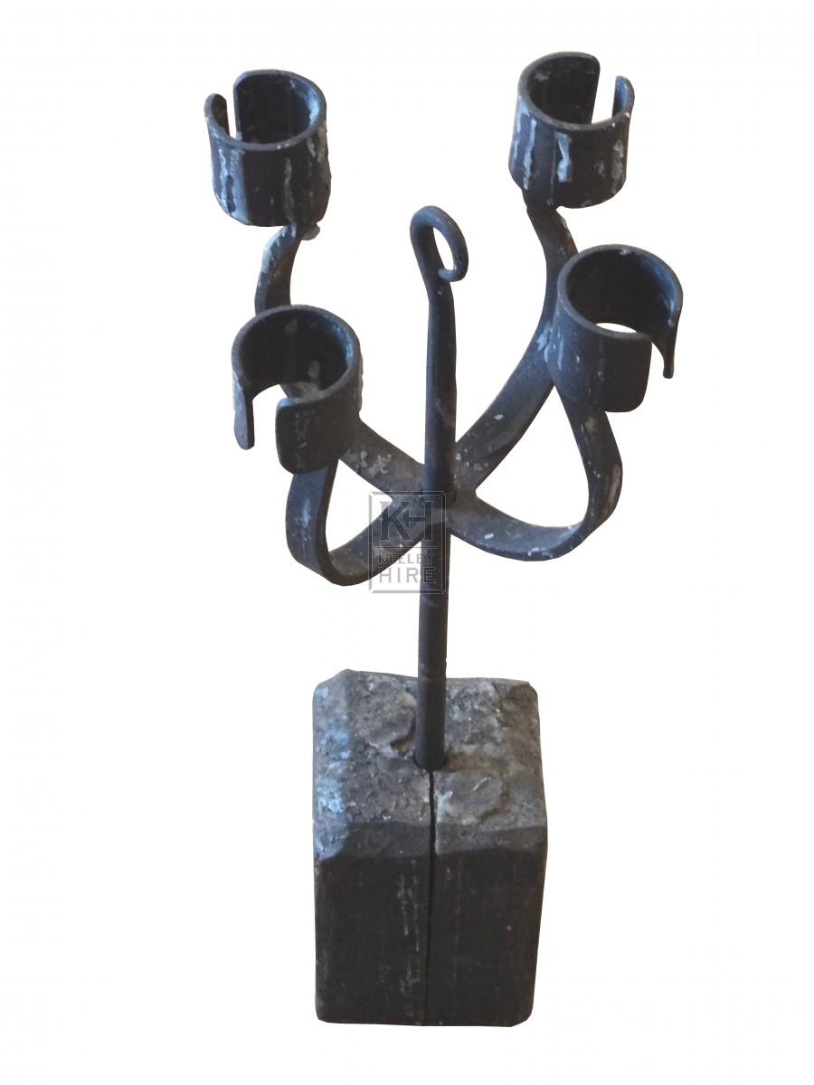 Quad Iron Candle Holder