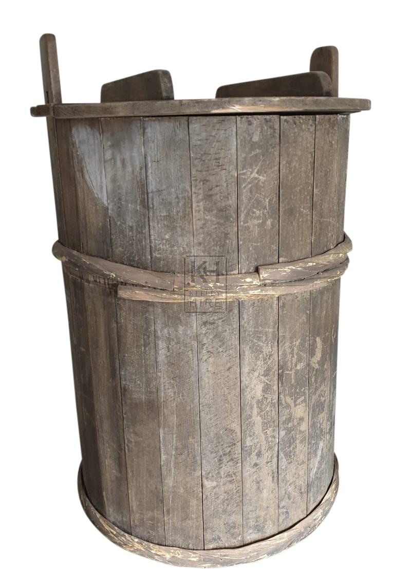 Large cart barrels with lids