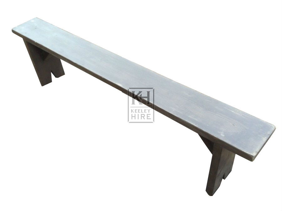 6ft Grey Bench