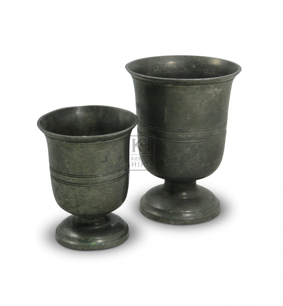 Tudor Half Pint Pewter Vase Goblet