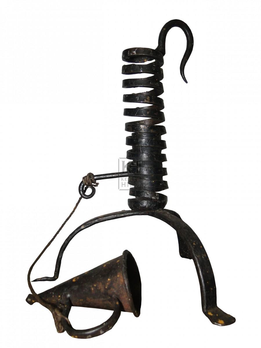 Iron Spiral Candlestick