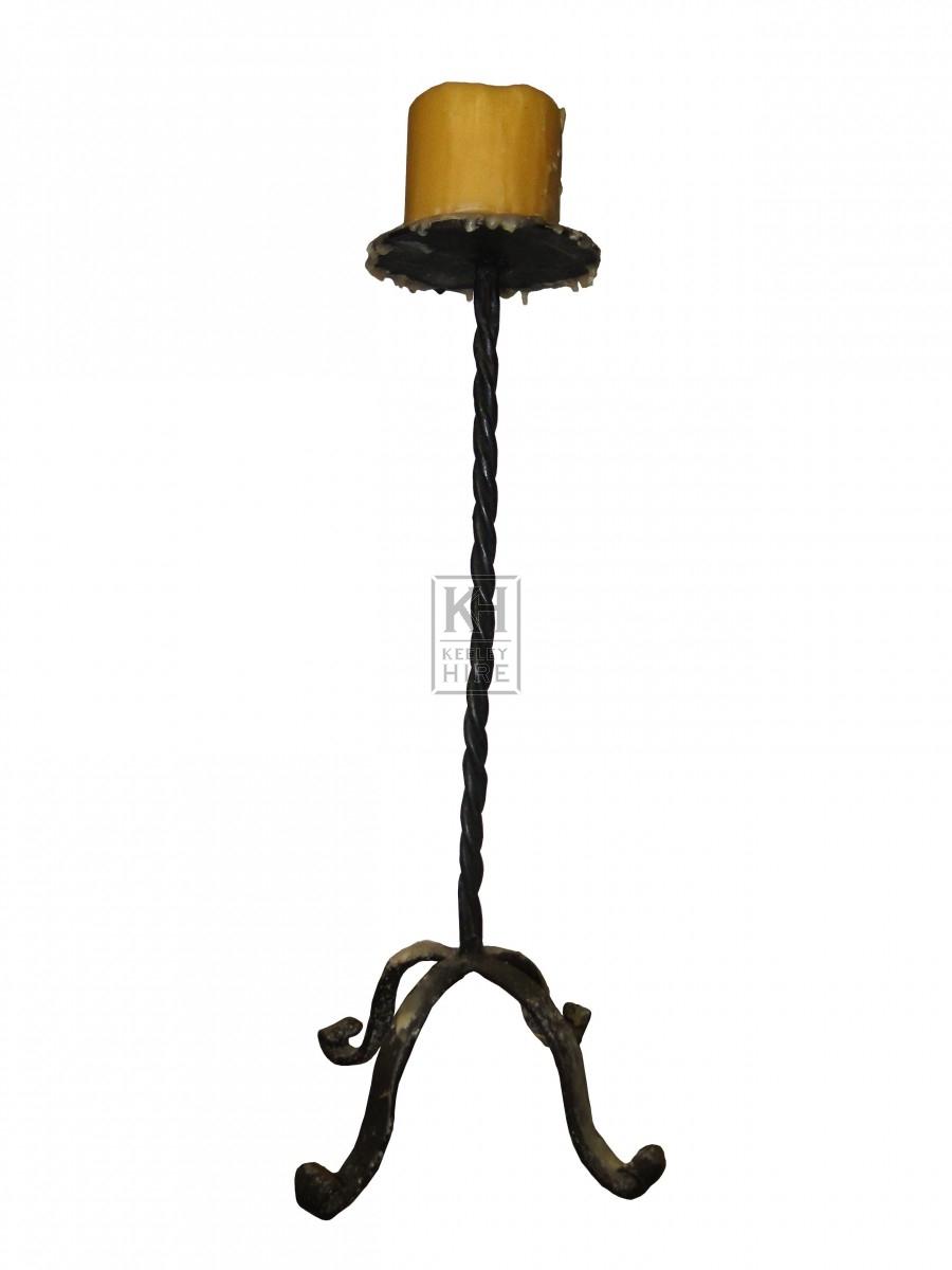 Tall Spiral Candlestick