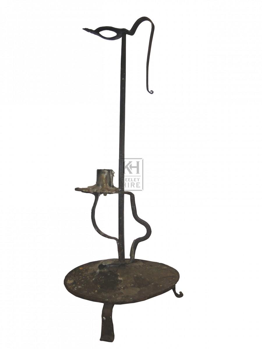 Tall Single Iron Candleholder