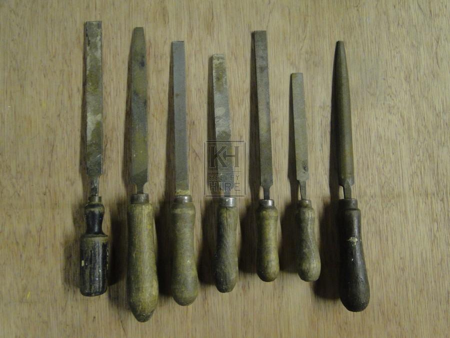 Wooden Handled File