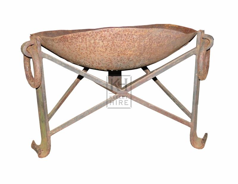 Medium iron bowl brazier