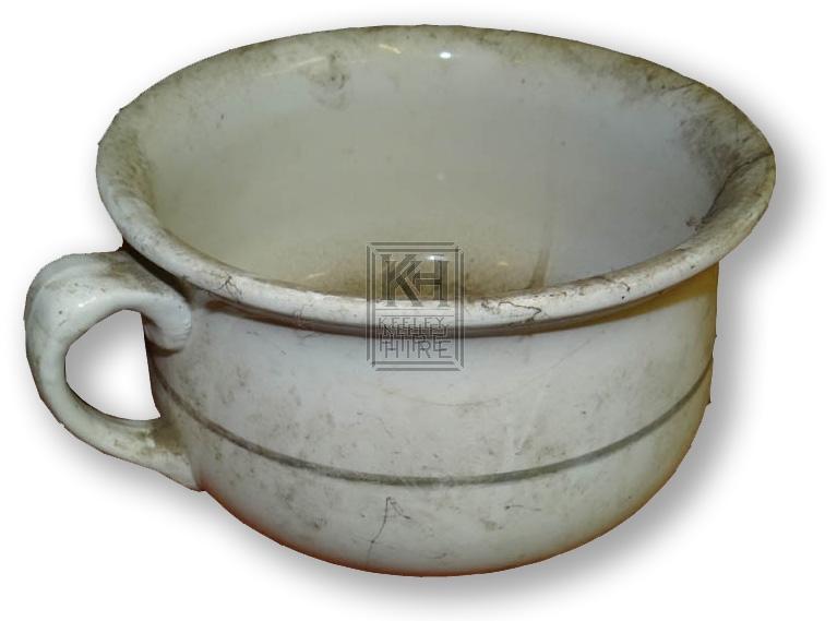 White pottery chamber pot