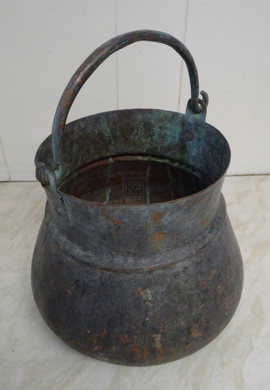 Copper iron cooking pot