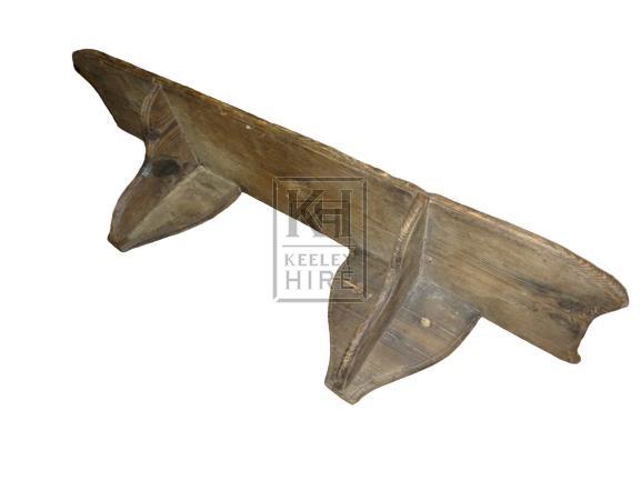 Simple wood shelf