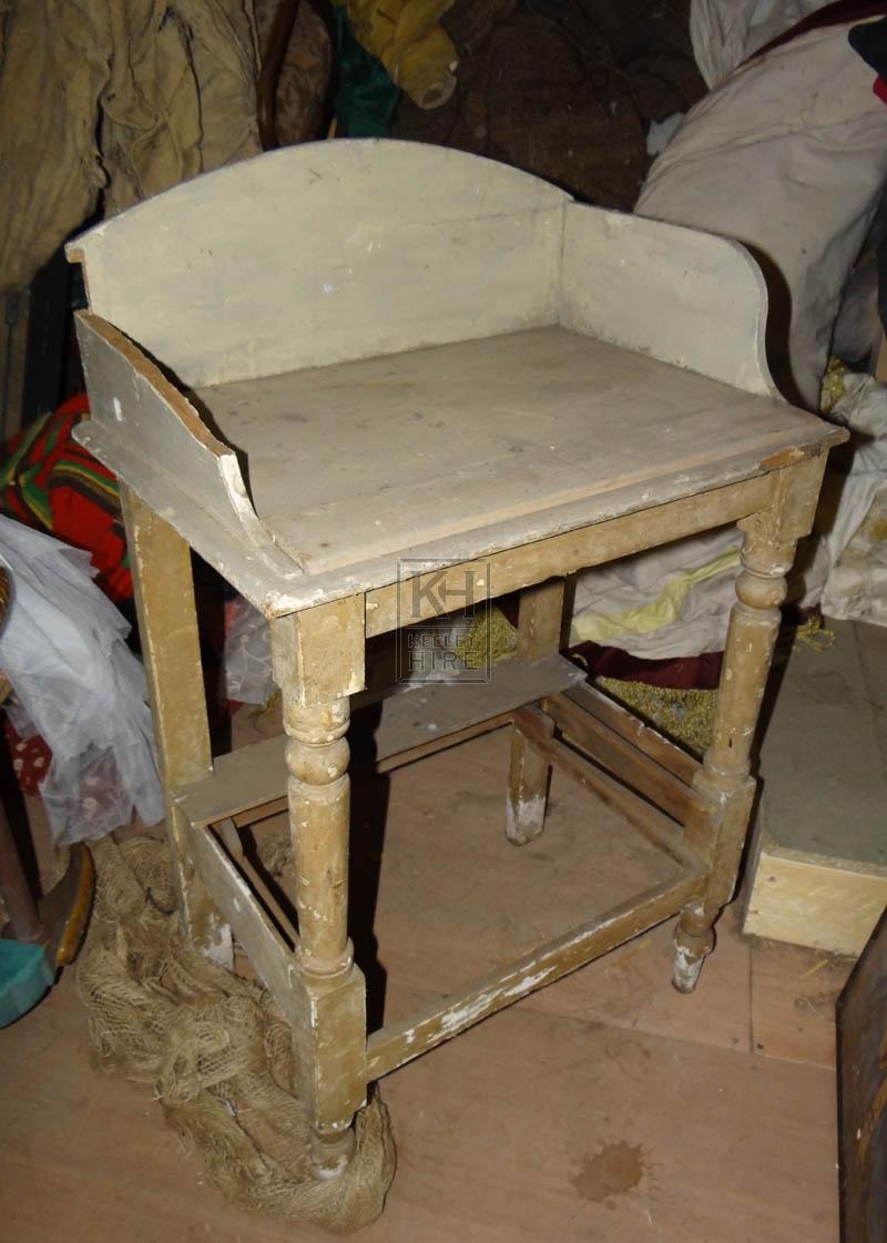 Old worn wash stand