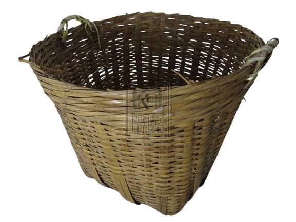 2-handle woven reed basket