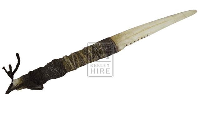 Rubber horn knife
