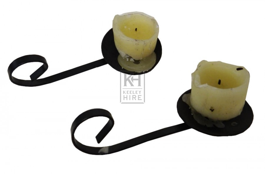 Simple iron candle holders