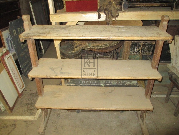 Wooden 3 Tier Shelf Unit