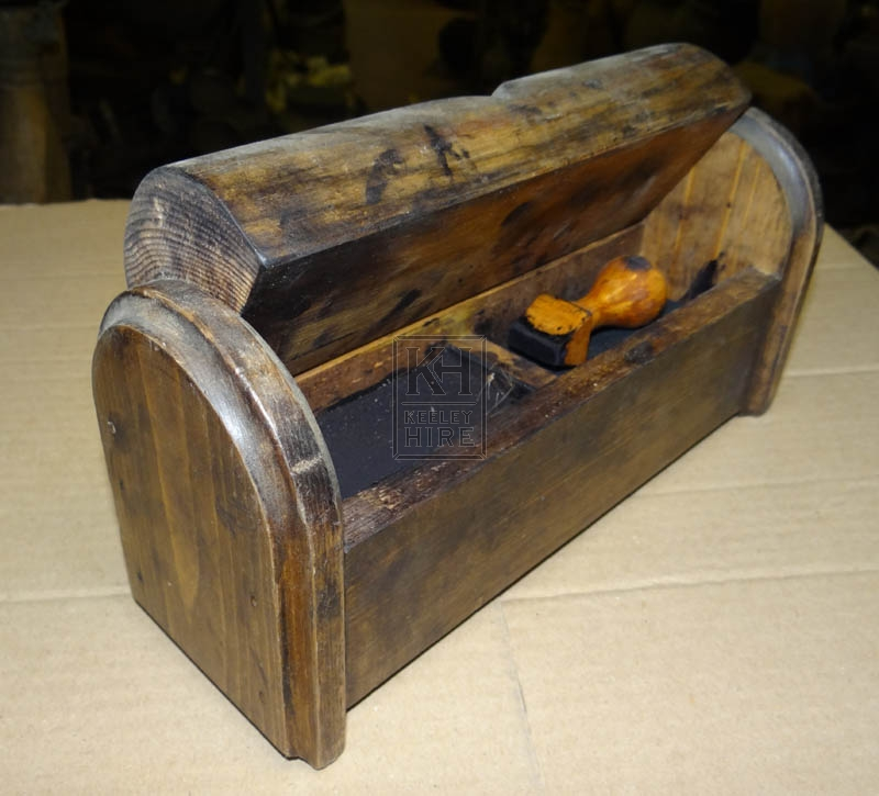 Wood box with stamp