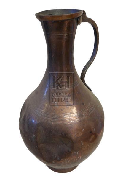 Large bulbous copper jug