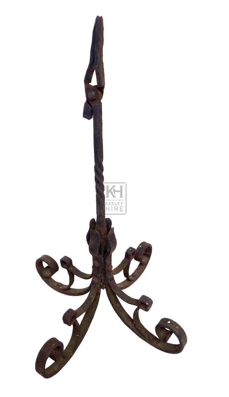 Ornate iron rush holder