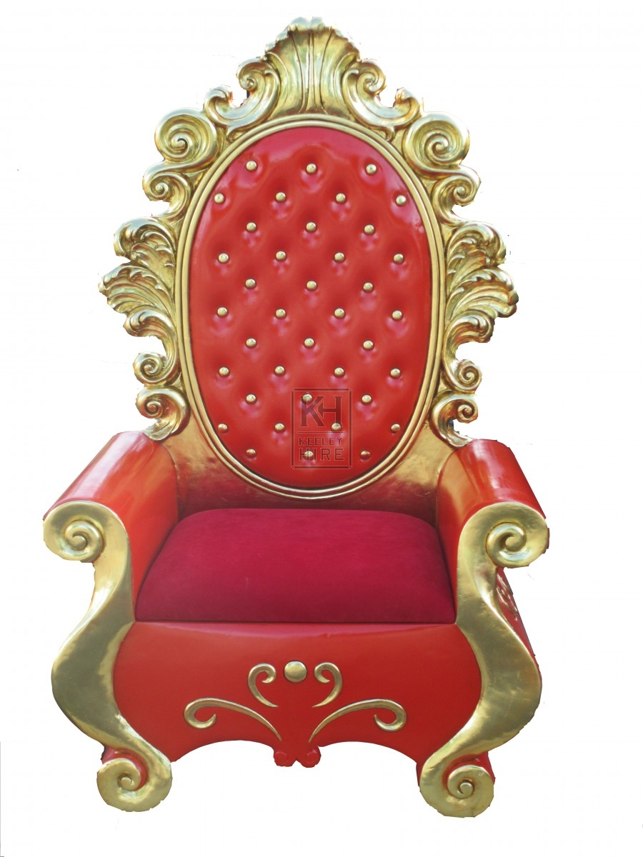 Red Throne Chair - Christmas