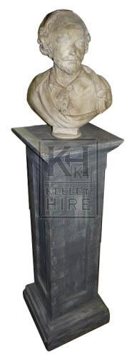 Bust on plinth