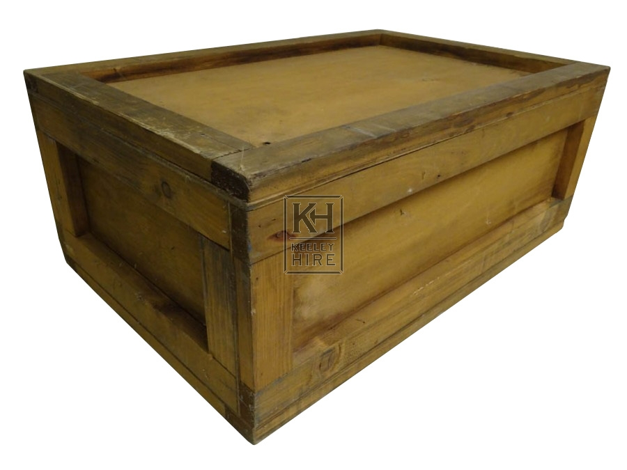 Small wood crate