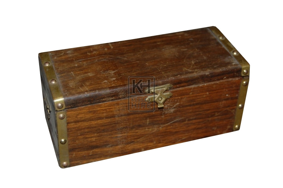 Small Wooden Studded Box
