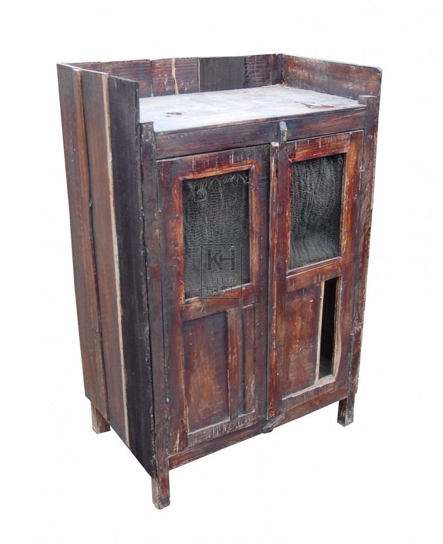 Slatted Wood Cupboard