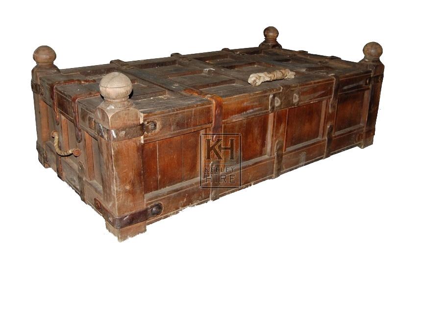 Large Wood Coffer