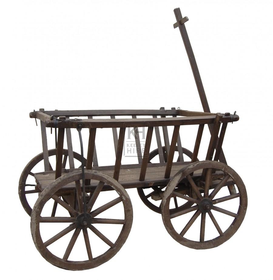 Small Slatted T-bar Cart