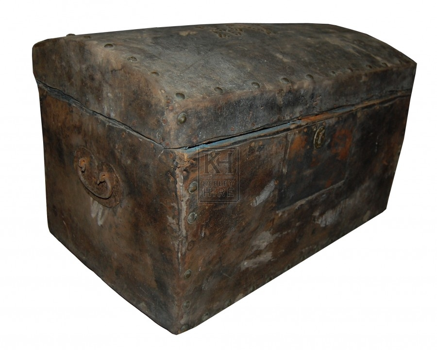Leather & Metal Chest
