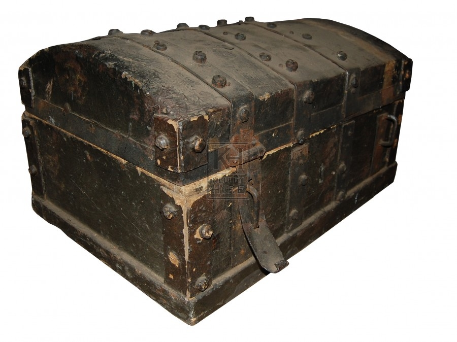 Wooden Chest with Branded metal