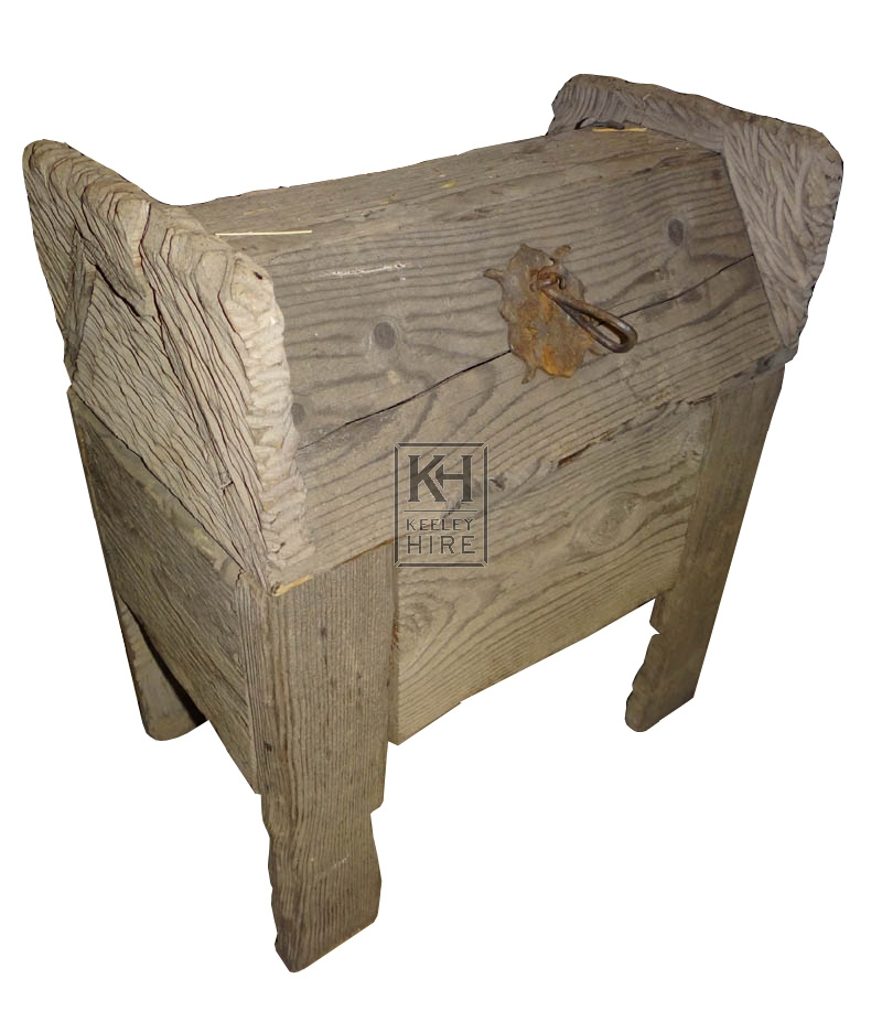 Small wood chest on legs