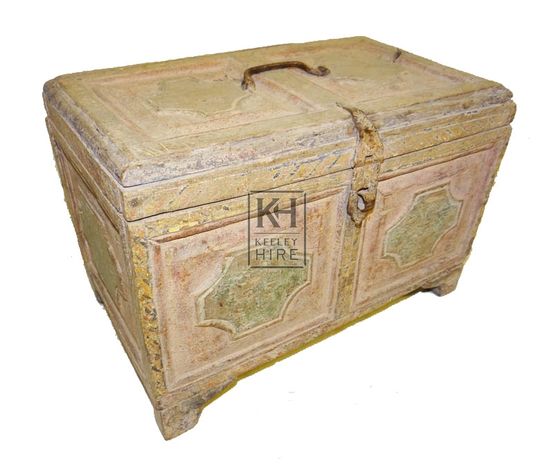 Faded painted chest