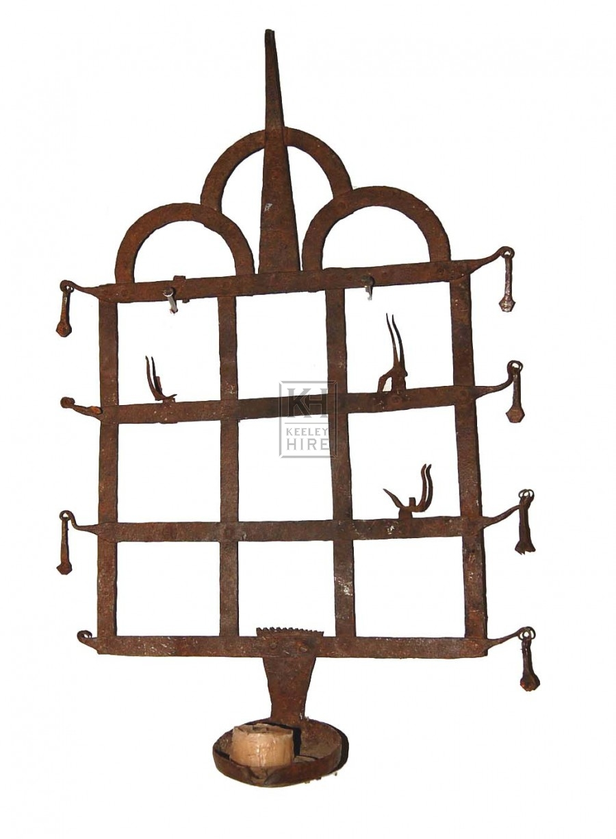 Ornate Rusted Wall Hanging Candle Holder