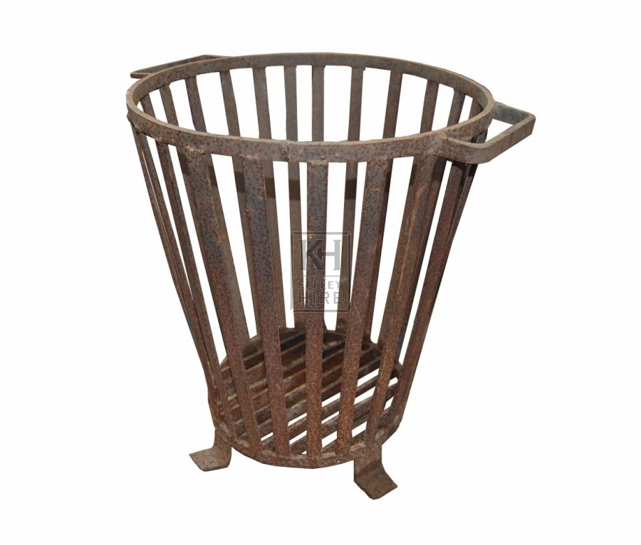 Low Iron Brazier with Handles