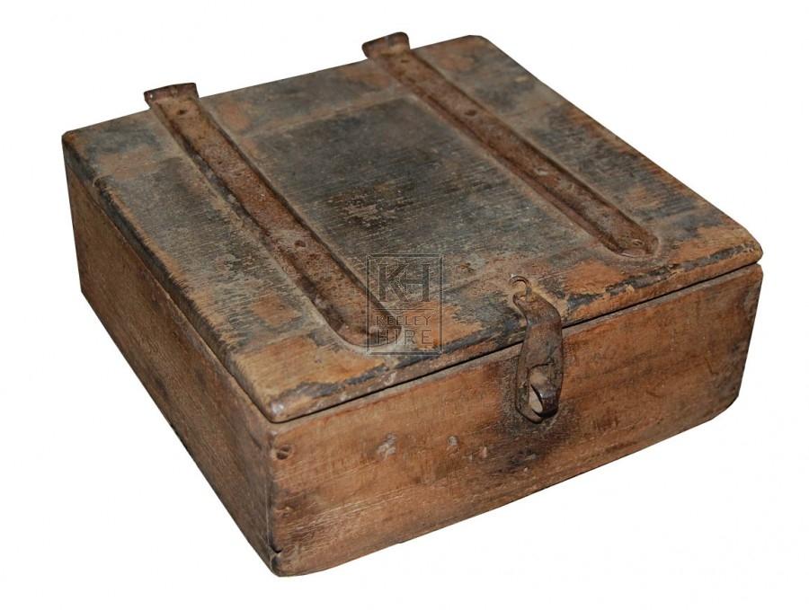 Small worn wooden box