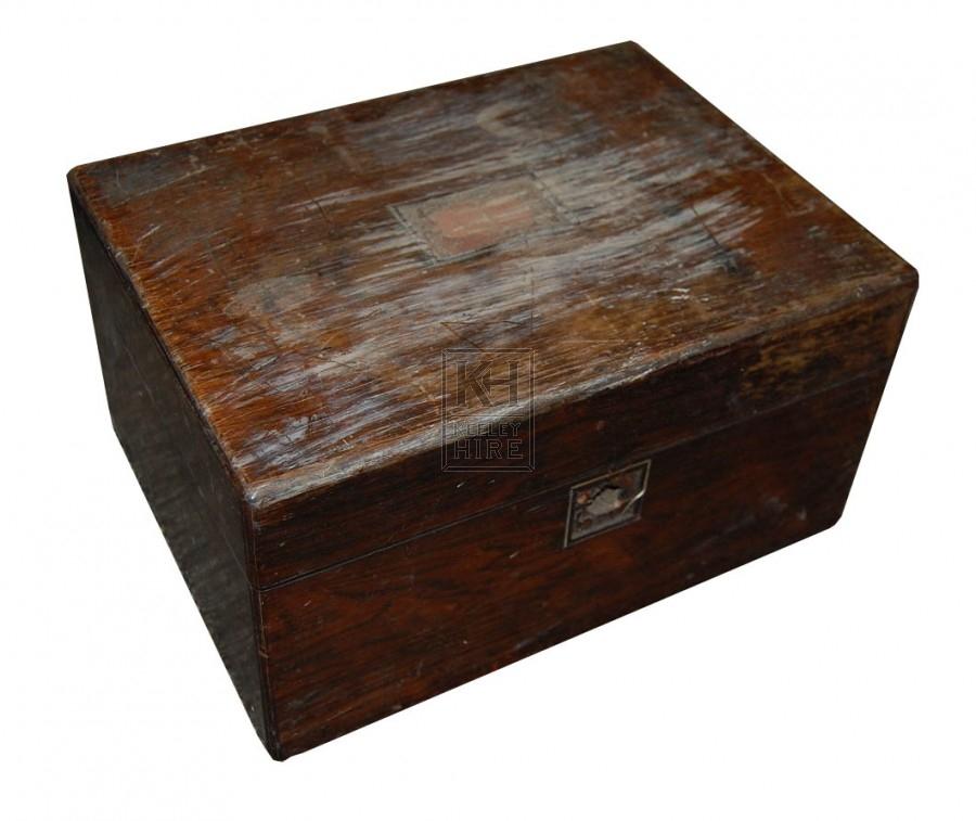 Small Plain Dark Wooden Box