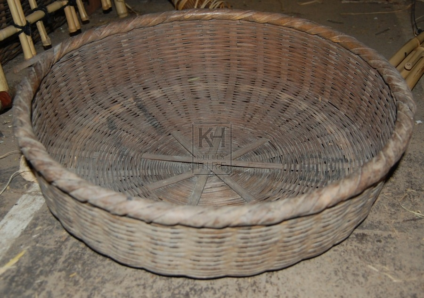 Shallow Grey Basket