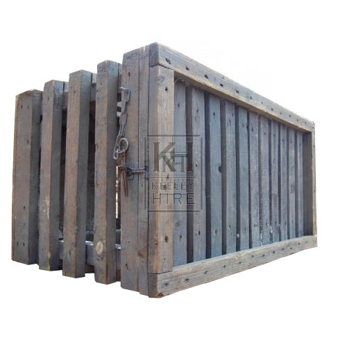 Large Wooden Cage with Metal Fastening