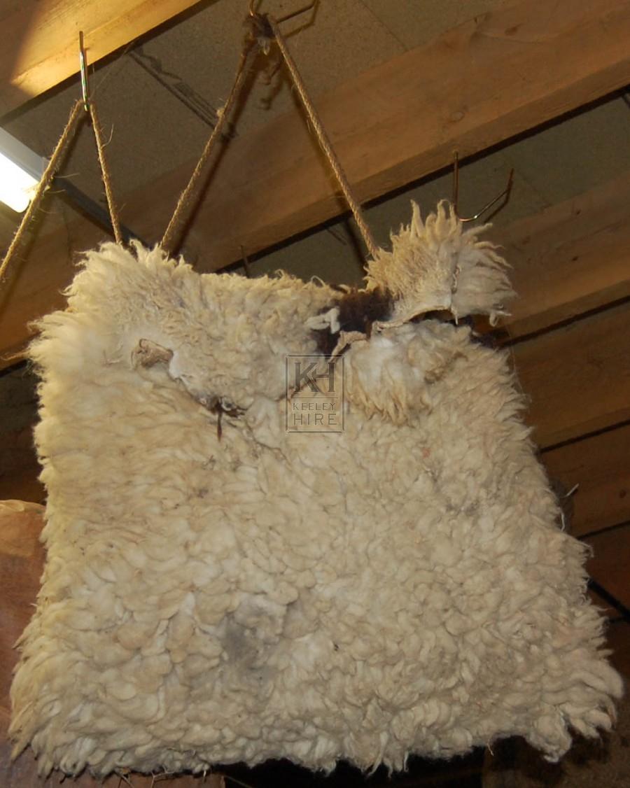 Large Sheep Skin Bag