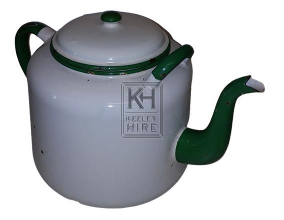 Large enamel teapot