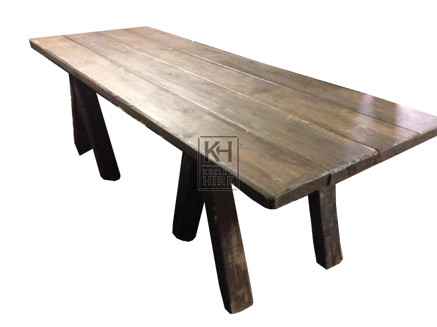 Dark Table Top with 2 trestles