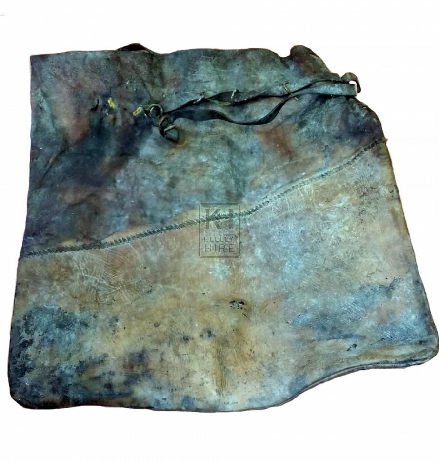 Large dark leather bag