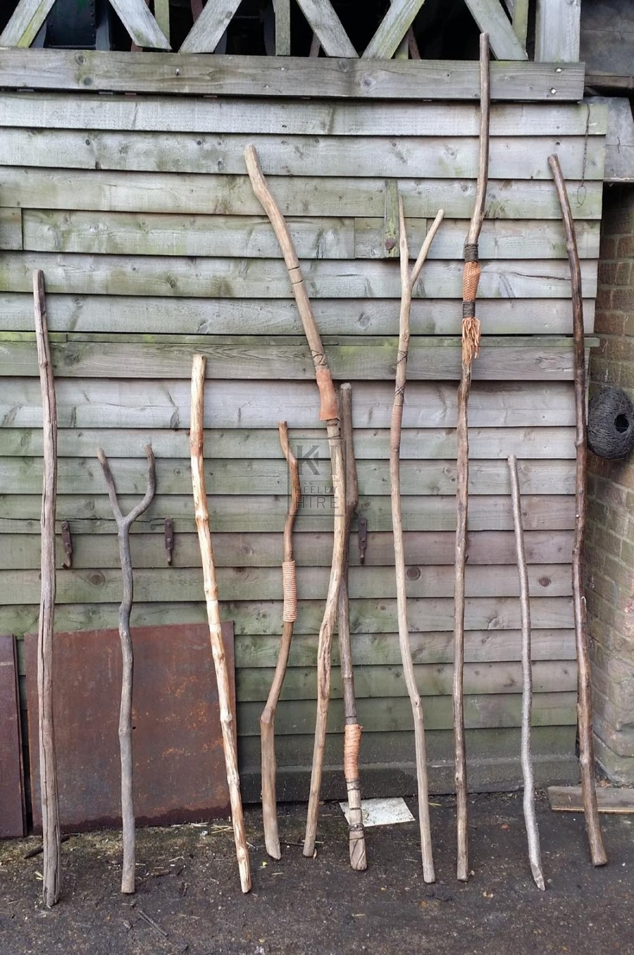 Wood staves