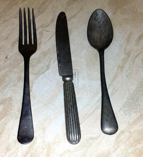 Old cutlery Fork Knife & Spoon