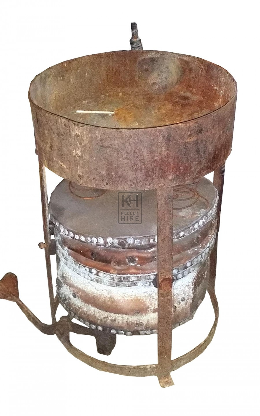Old rusty forge unit with bellows