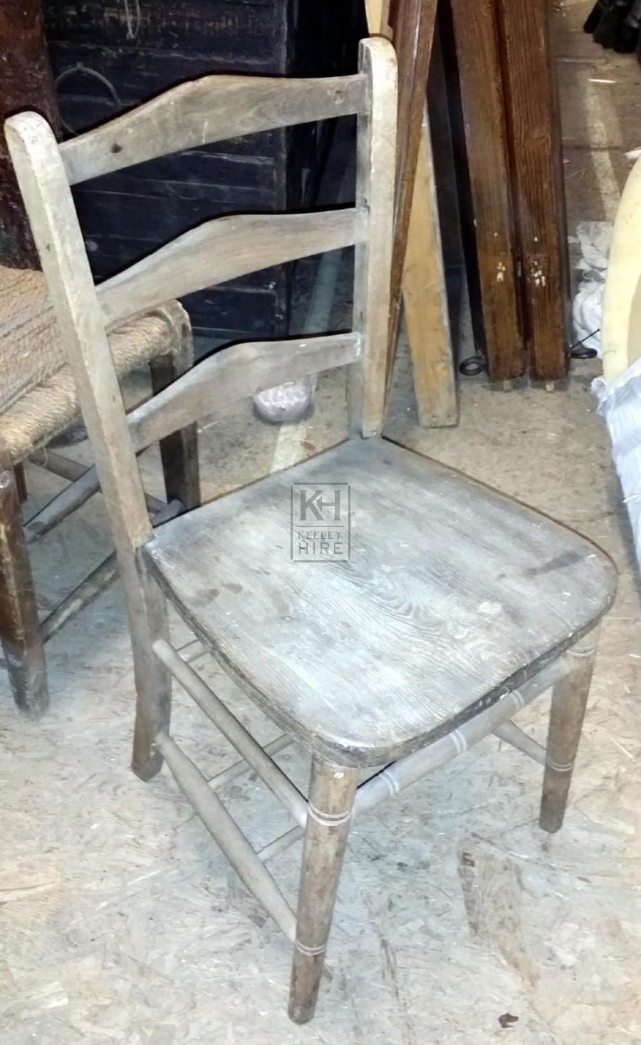 Plain wood chair