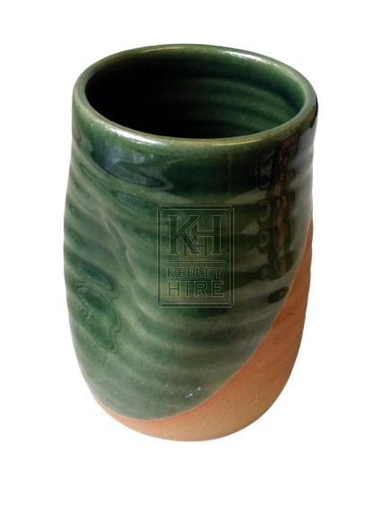 Historic green glazed dell beaker