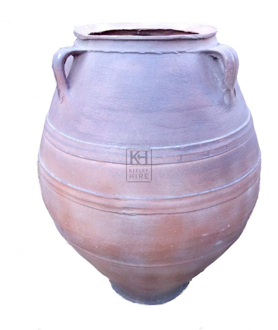 Large fibreglass bulbous urn
